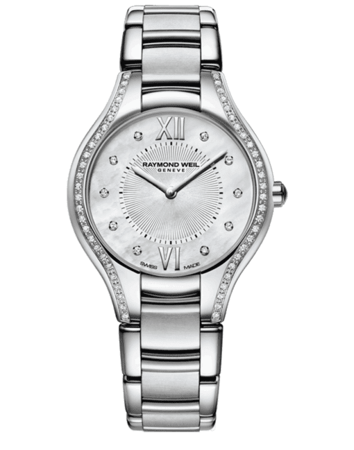 Raymond Weil Geneve Mother of Pearl Diamond Ladies Luxury Watch
