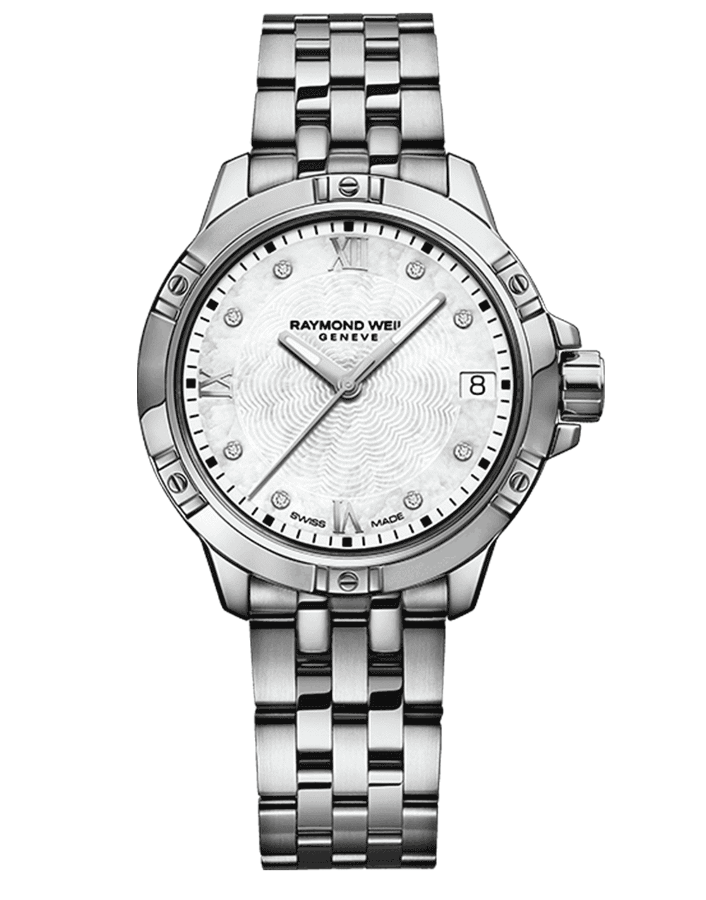 RAYMOND WEIL stainless steel diamond indexes ladies tango watch