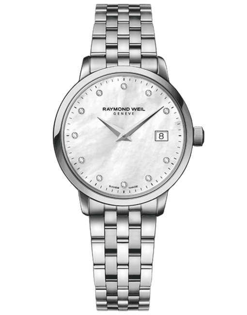 RAYMOND WEIL toccata ladies steel white mother-of-pearl diamond watch