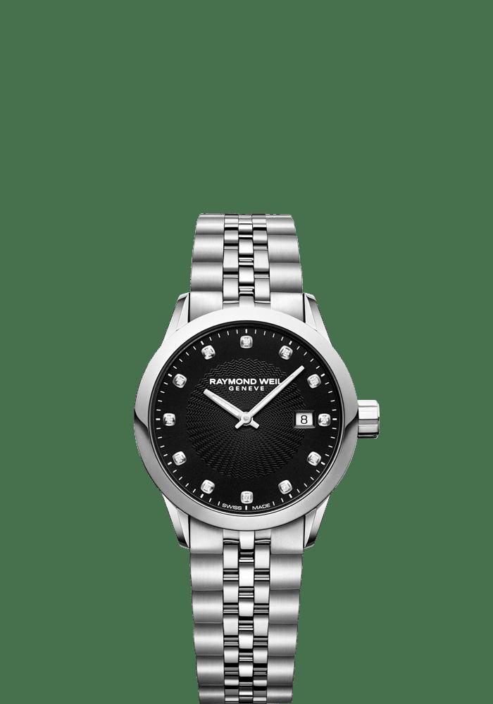 RAYMOND WEIL lady freelancer quartz black date watch