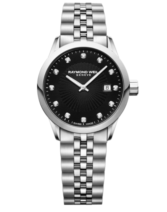 Raymond Weil Geneve Black Dial Ladies Luxury Watch