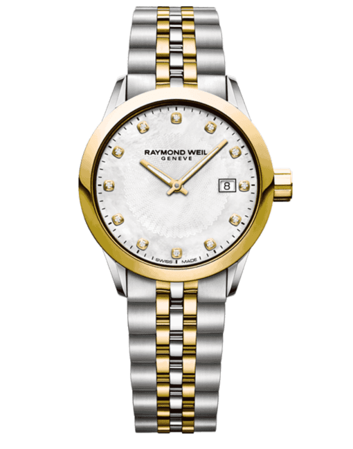 RAYMOND WEIL Geneve Two-tone white dial Ladies Luxury Watch