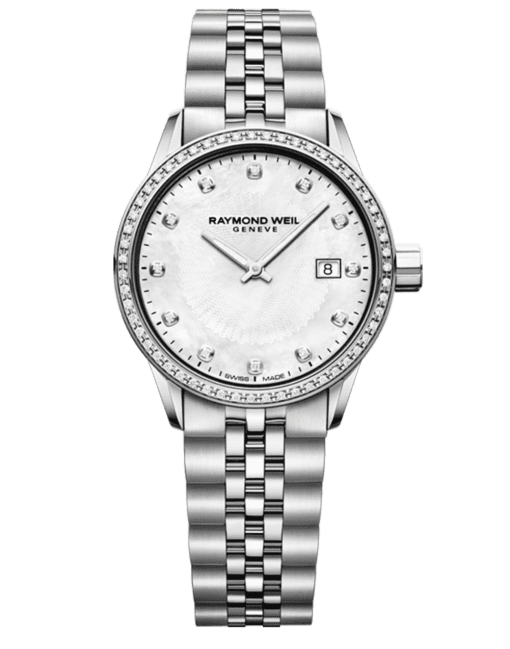 Raymond Weil Geneve White Dial Diamond Ladies Luxury Watch
