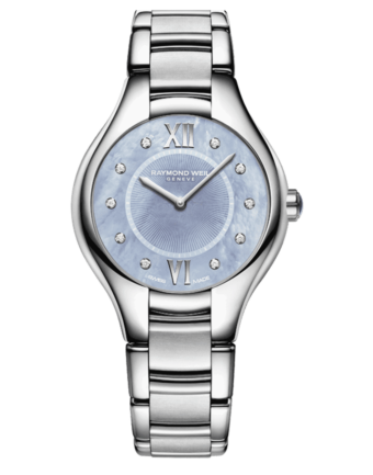 Raymond Weil Geneve Stainless Steel Blue Dial Ladies Luxury Watch