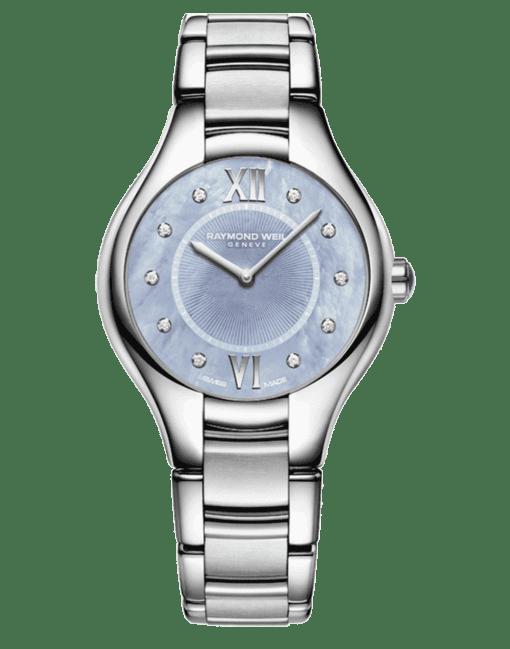 Raymond Weil Geneve Stainless Steel Blue Dial Ladies Luxury Watch
