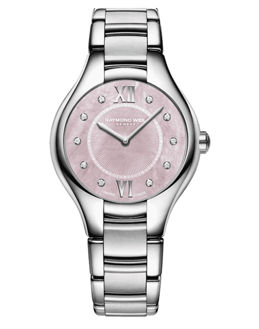 RAYMOND WEIL Geneve Stainless Steel Pink Dial Ladies Luxury Watch