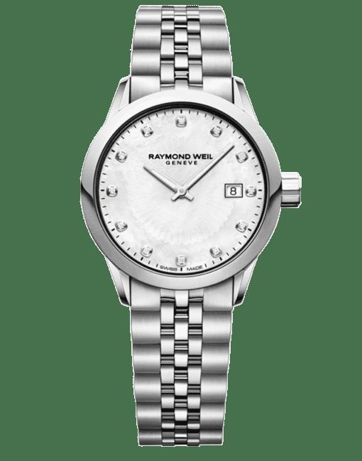 RAYMOND WEIL Freelancer Ladies 12 Diamond Steel Bracelet Quartz Watch, 29mm