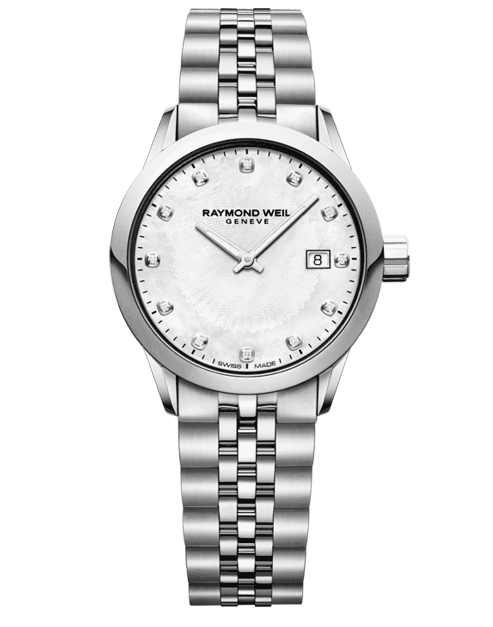 Freelancer Ladies 12 Diamond Steel Bracelet Quartz Watch, 29mm