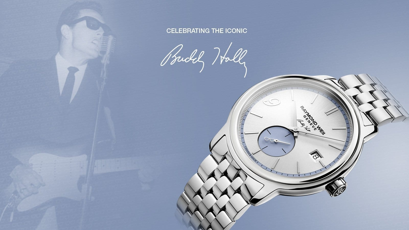 RAYMOND WEIL | Buddy Holly 80th Anniversary Limited Edition Raymond Weil Maestro Luxury Watch