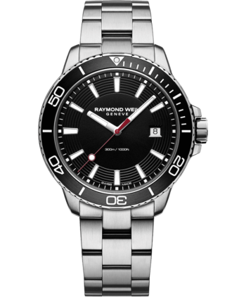 RAYMOND WEIL tango 300 men's steel black diver watch