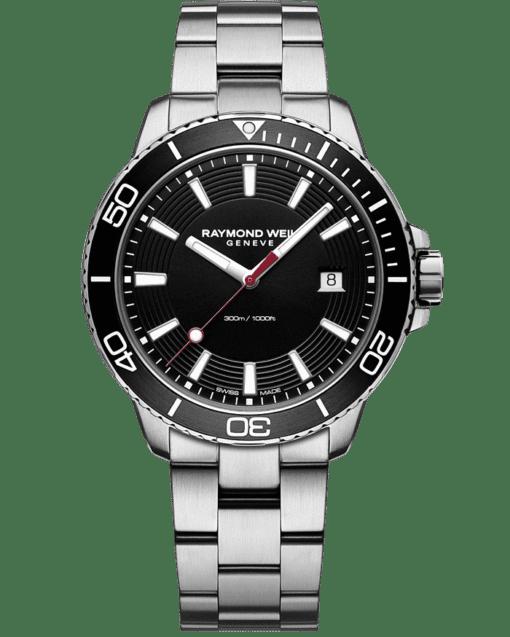 RAYMOND WEIL tango 300 men's steel black diver watch