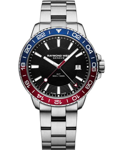 RAYMOND WEIL tango 300 GMT blue red diver watch