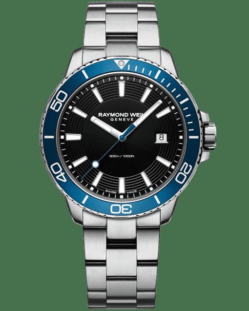RAYMOND WEIL tango 300 men's steel blue diver watch