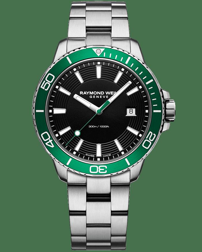 RAYMOND WEIL tango 300 men's green diver watch