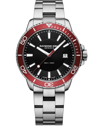 RAYMOND WEIL tango 300 men's red diver watch