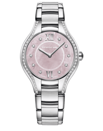 Raymond Weil Geneve Stainless Steel Diamond Pink Dial Ladies Luxury Watch