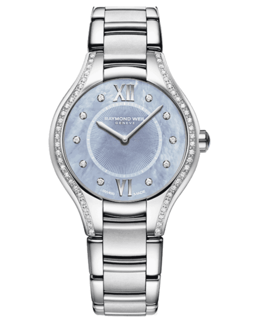 Raymond Weil Geneve Stainless Steel Diamon Blue Dial Ladies Luxury Watch