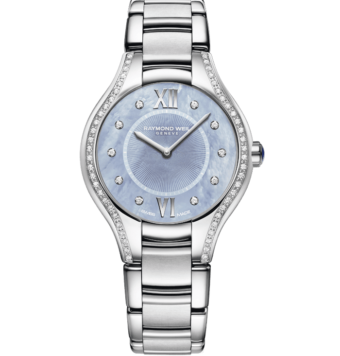 RAYMOND WEIL Noemia ladies stainless steel blue diamond quartz watch