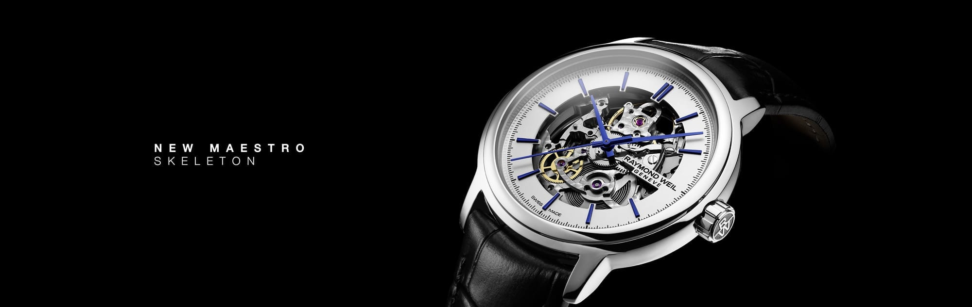 RAYMOND WEIL Maestro Automatic Skeleton Leather watch