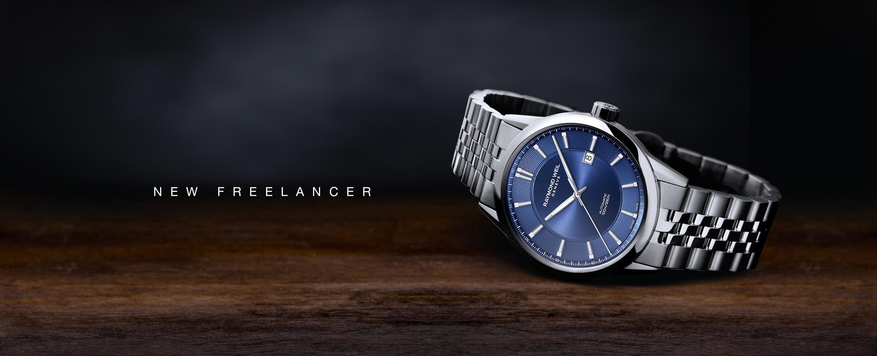2731 freelancer blue automatic date watch stainless steel
