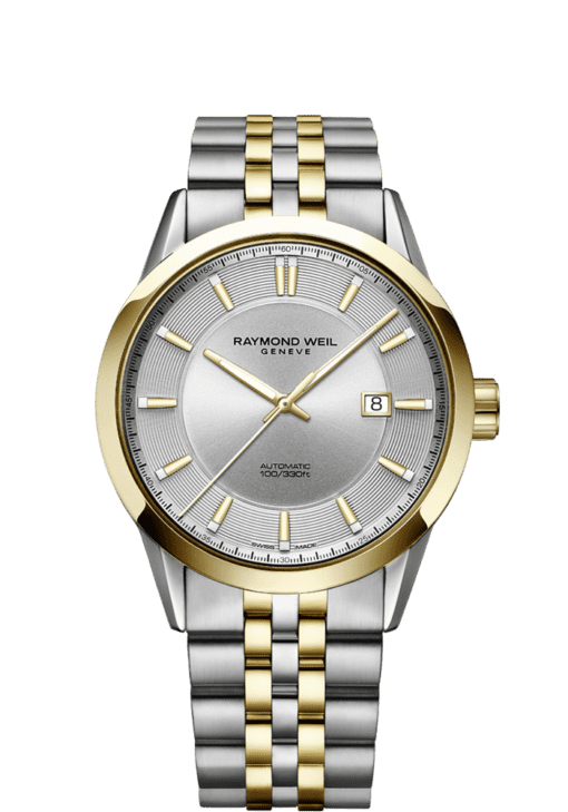 2731-stp-65001 two-tone gold automatic date watch