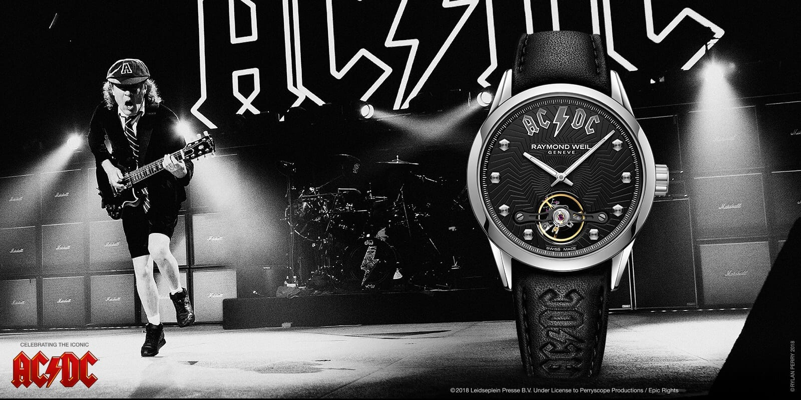 Raymond weil ac/dc freelancer automatic limited edition watch official ad