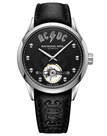 RAYMOND WEIL Freelancer AC/DC Limited Edition Black Leather Watch