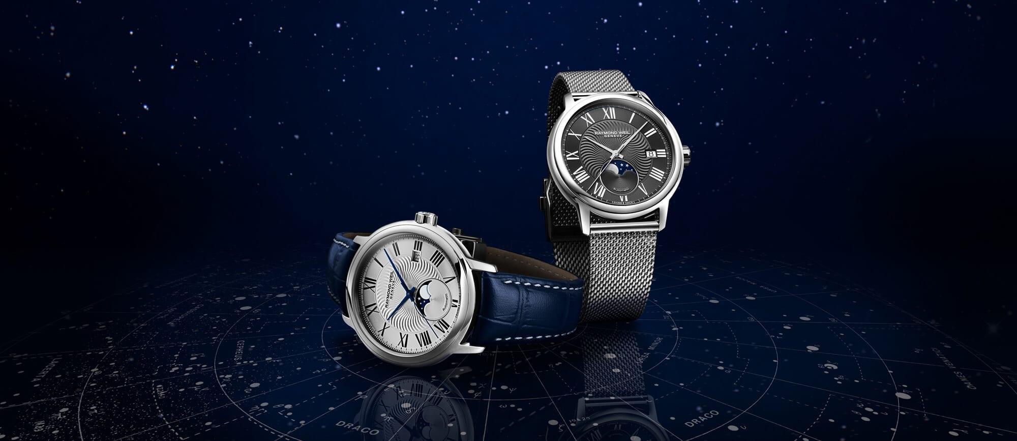 Maestro Moon Phase 2239 Grey Dial Men's Watch RAYMOND WEIL