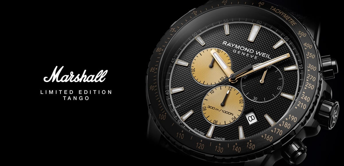 Marshall limited edition tango Raymond Weil partnership
