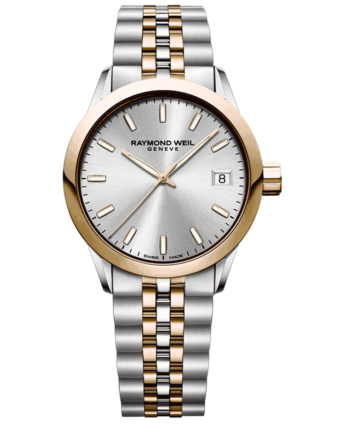 Raymond Weil Geneve Silver Dial Two-tone Ladies Luxury Watch