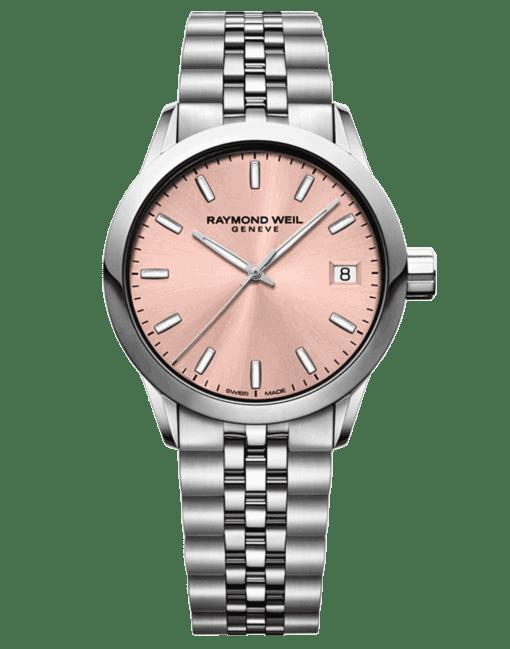 Raymond Weil Rose Dial Steel Ladies Watch