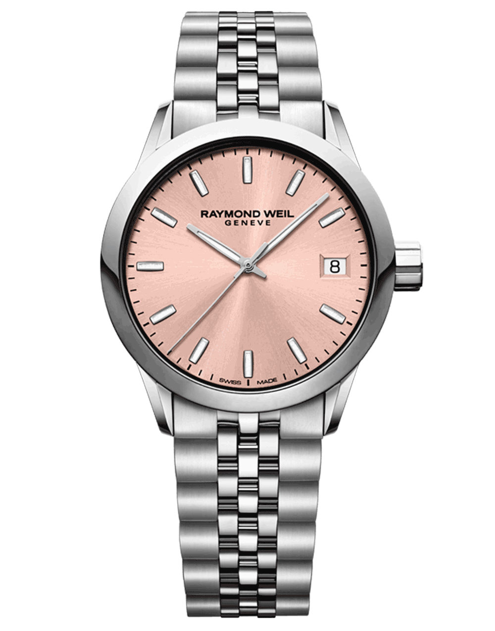 RAYMOND WEIL Rose Dial Steel Ladies Watch