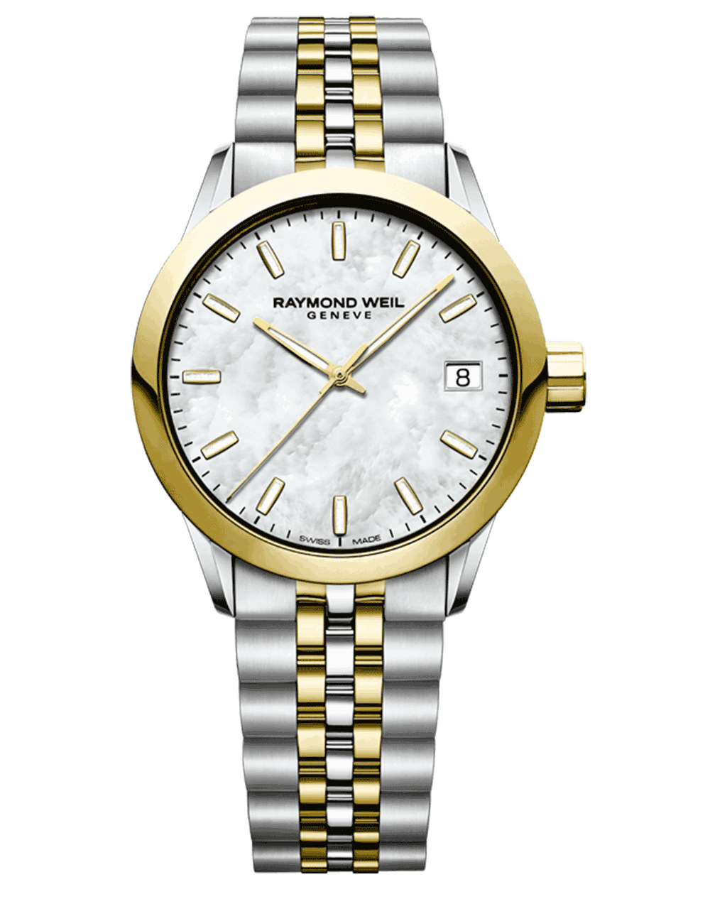 RAYMOND WEIL Geneve Mother of Pearl Dial Two-tone Ladies Luxury Watch