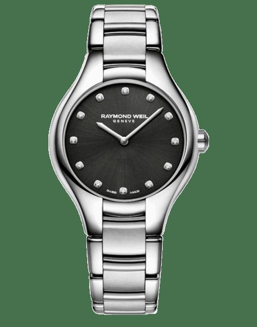 Raymond Weil Geneve Black Dial Ladies Luxury Watch