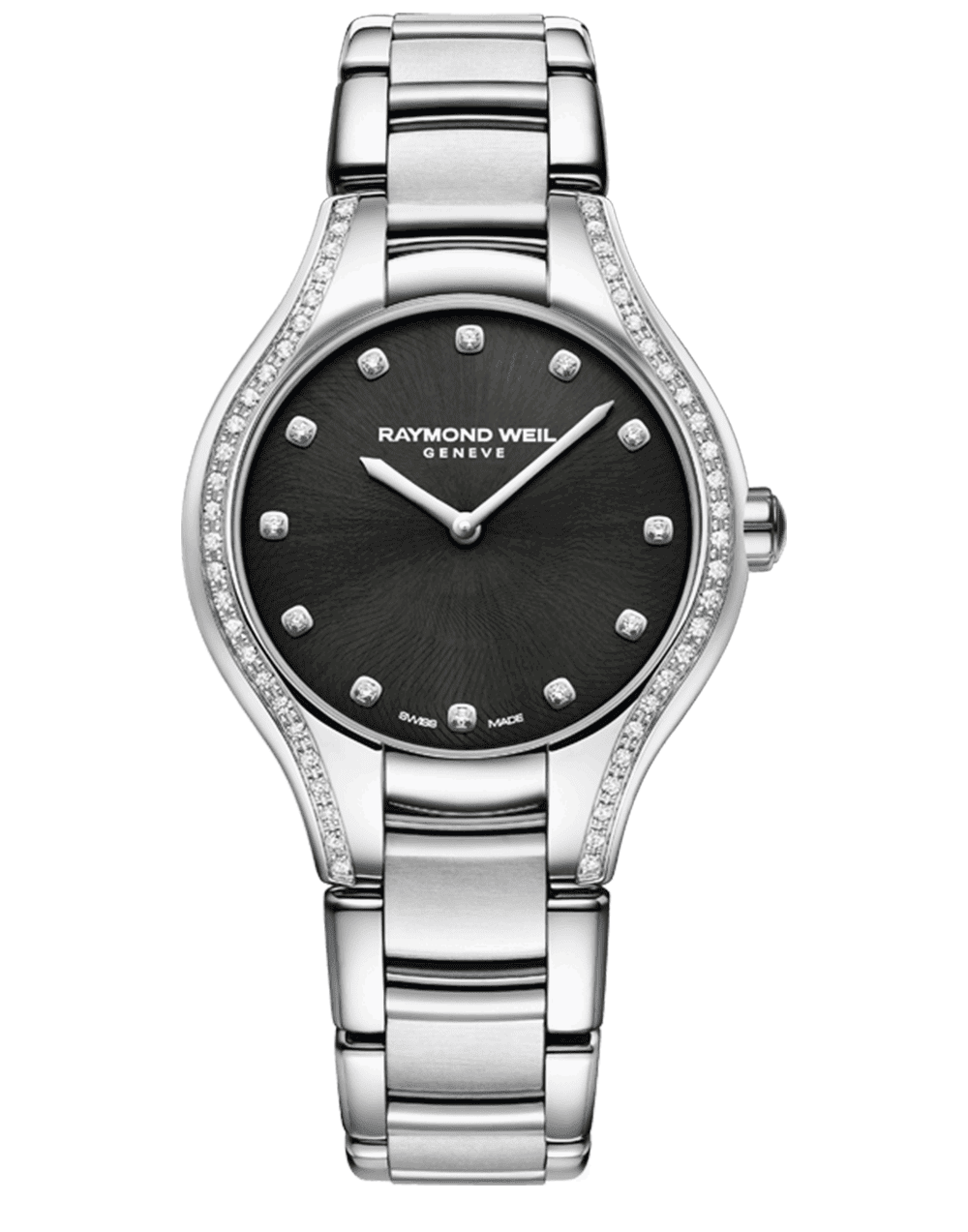 RAYMOND WEIL black dial 64 diamond ladies noemia watch