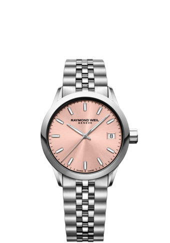 RAYMOND WEIL freelancer 5634 34mm rose pink quartz watch