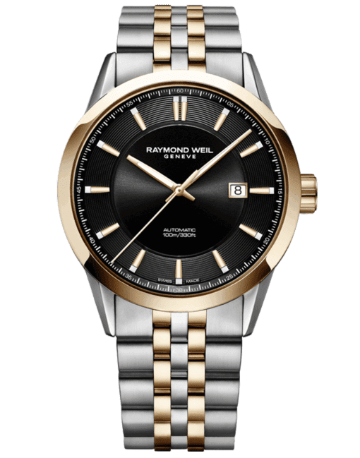 RAYMOND WEIL Men's Freelancer Black Dial Half-Moon Luxury Swiss Watch