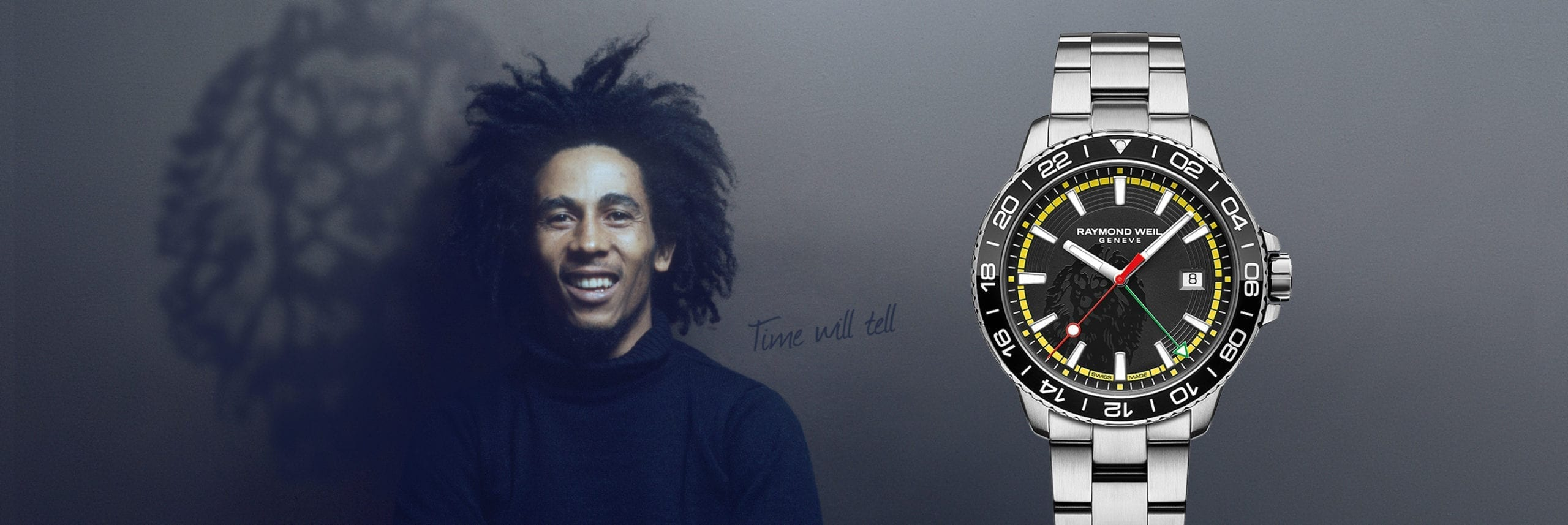 RAYMOND WEIL | Bob Marley Limited Edition Raymond Weil Tango Luxury Watch - Pack Shot Image