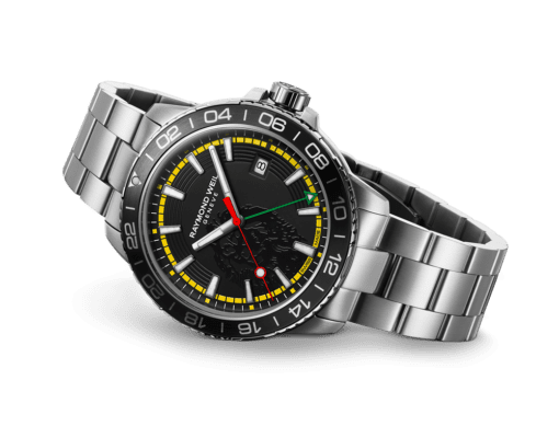 RAYMOND WEIL Bob Marley Tango GMT Limited Edition Luxury Swiss Watch - 8280-ST1-BMY18