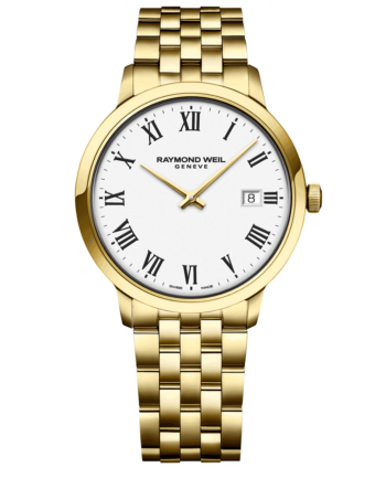 RAYMOND WEIL Geneve Toccata White Dial Gold Men's Luxury Watch