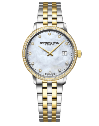RAYMOND WEIL Geneve Toccata Mother of Pearl Dial Two-tone Diamond Women's Luxury Watch