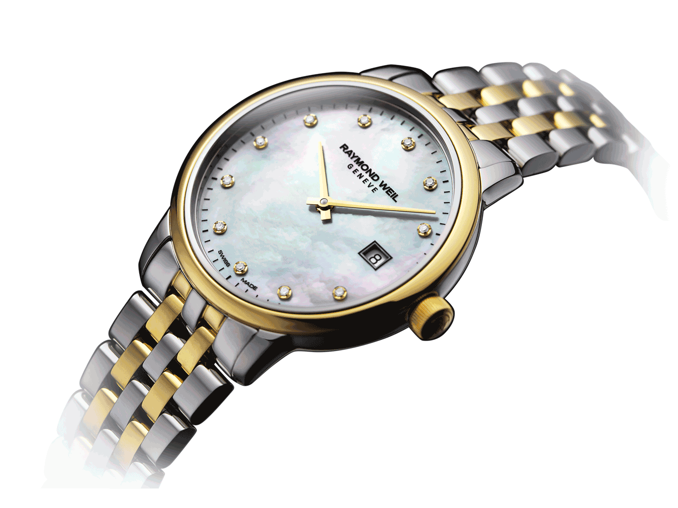 Raymond Weil Geneve Toccata Mother of Pearl Dial Two-tone Women's Luxury Watch