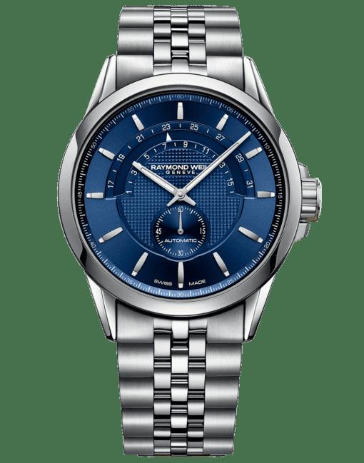RAYMOND WEIL Freelancer Men's Blue Dial Half-moon Swiss Luxury Watch