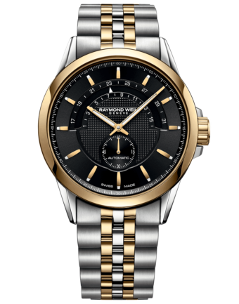 RAYMOND WEIL Men's Freelancer Black Dial Half-Moon Luxury Swiss Watch