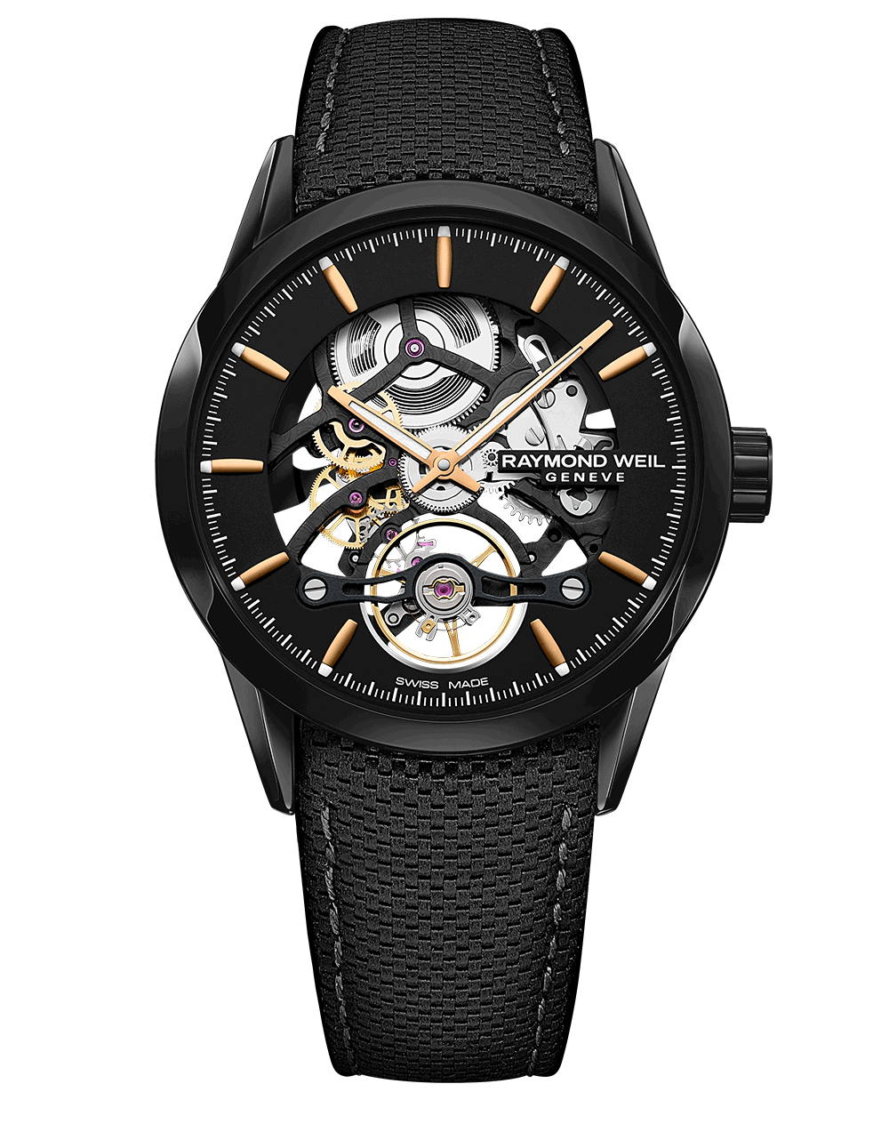 The Raymond Weil Freelancer Calibre RW1212 Skeleton watch