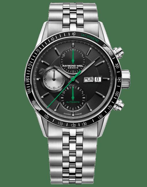 RAYMOND WEIL Freelancer Chronograph Stainless Steel Bracelet Luxury Swiss Watch