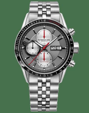 RAYMOND WEIL Freelancer Chronograph Black Leather Watch