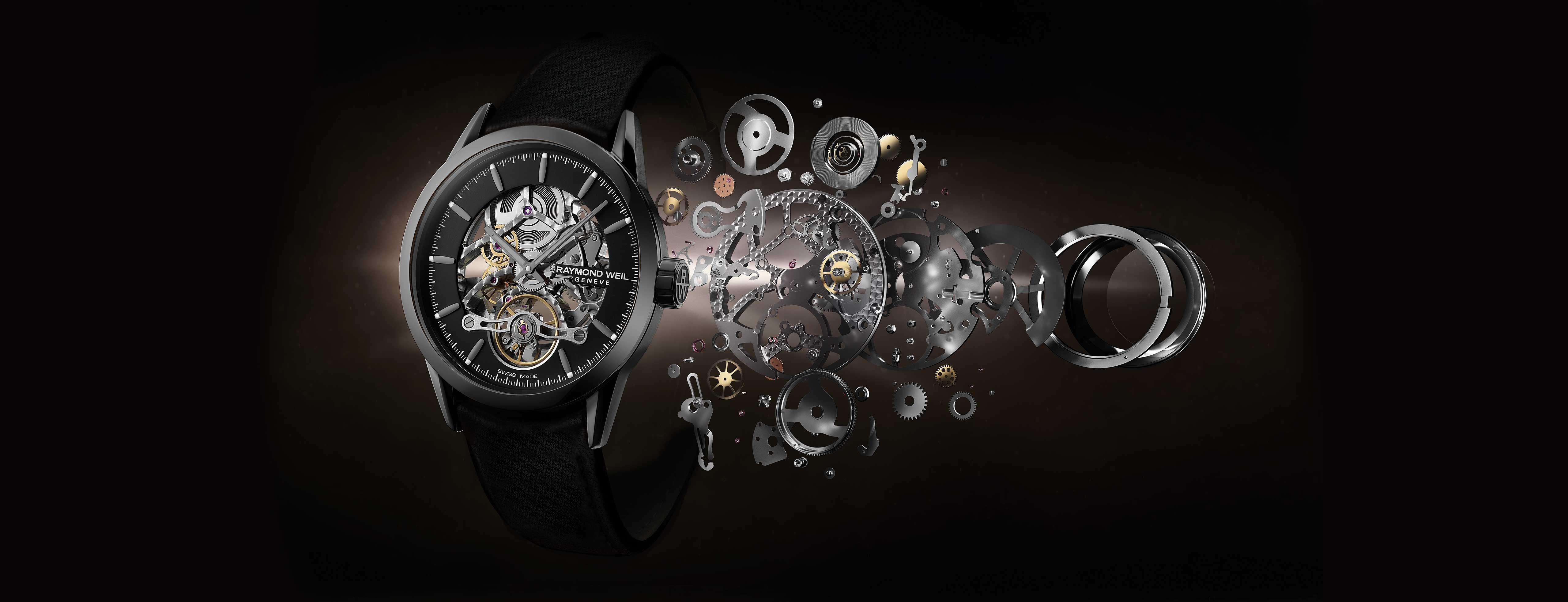 RAYMOND WEIL Men's Limited Edition Freelancer Skeleton Luxury Swiss Watch
