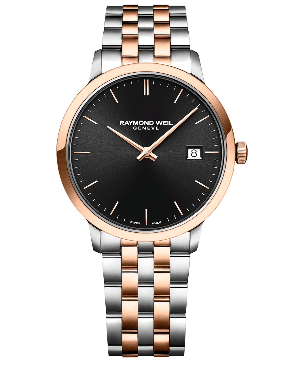 RAYMOND WEIL black dial two tone men's toccata